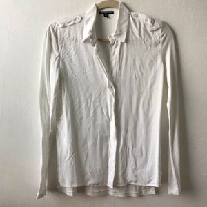 James Perse Soft Collage Button Down in White